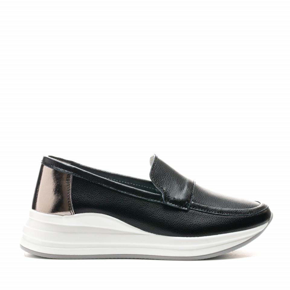 Pantofi Cod: AW155 BLACK LEATHER (G03)