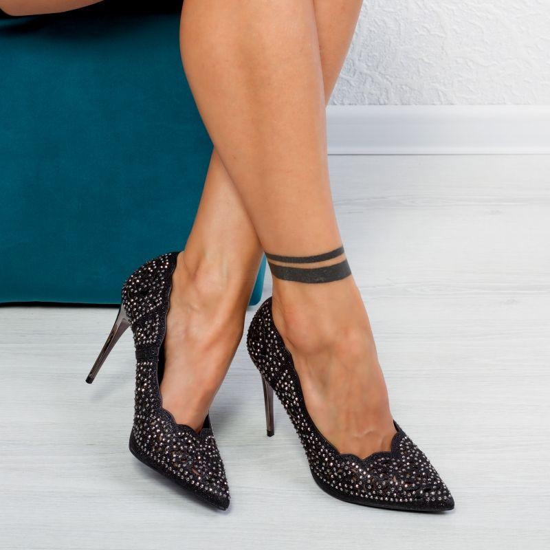 "Pantofi ""MireaFashion"" Cod: GE201 BLACK (K02)"