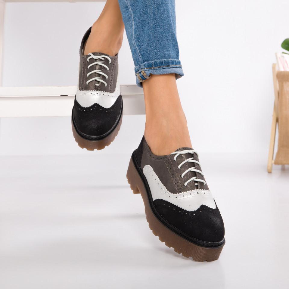"Pantofi ""MireaFashion"" Cod: GQ20 BLACK (U03)"
