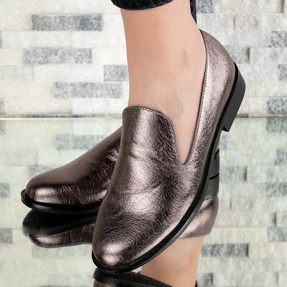 "Pantofi ""MireaFashion"" Cod: W30-8C PEWTER (H05)"