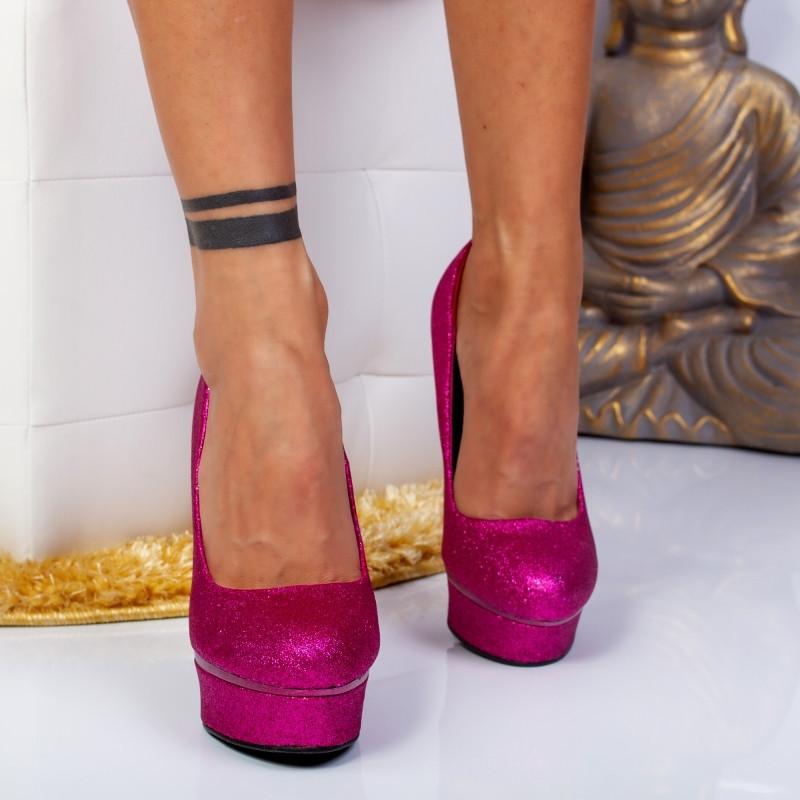 "Pantofi ""MireaFashion"" Cod: YES3478 FUCHSIA (D03-05)"
