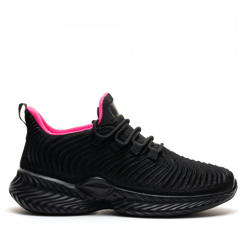 Pantofi Sport Cod: D8305-7 BLACK/FUXIA (H01)