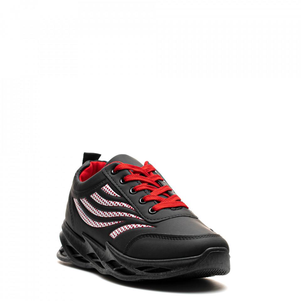 Pantofi Sport Cod: HQ-097-040 BLACK/RED (H02)