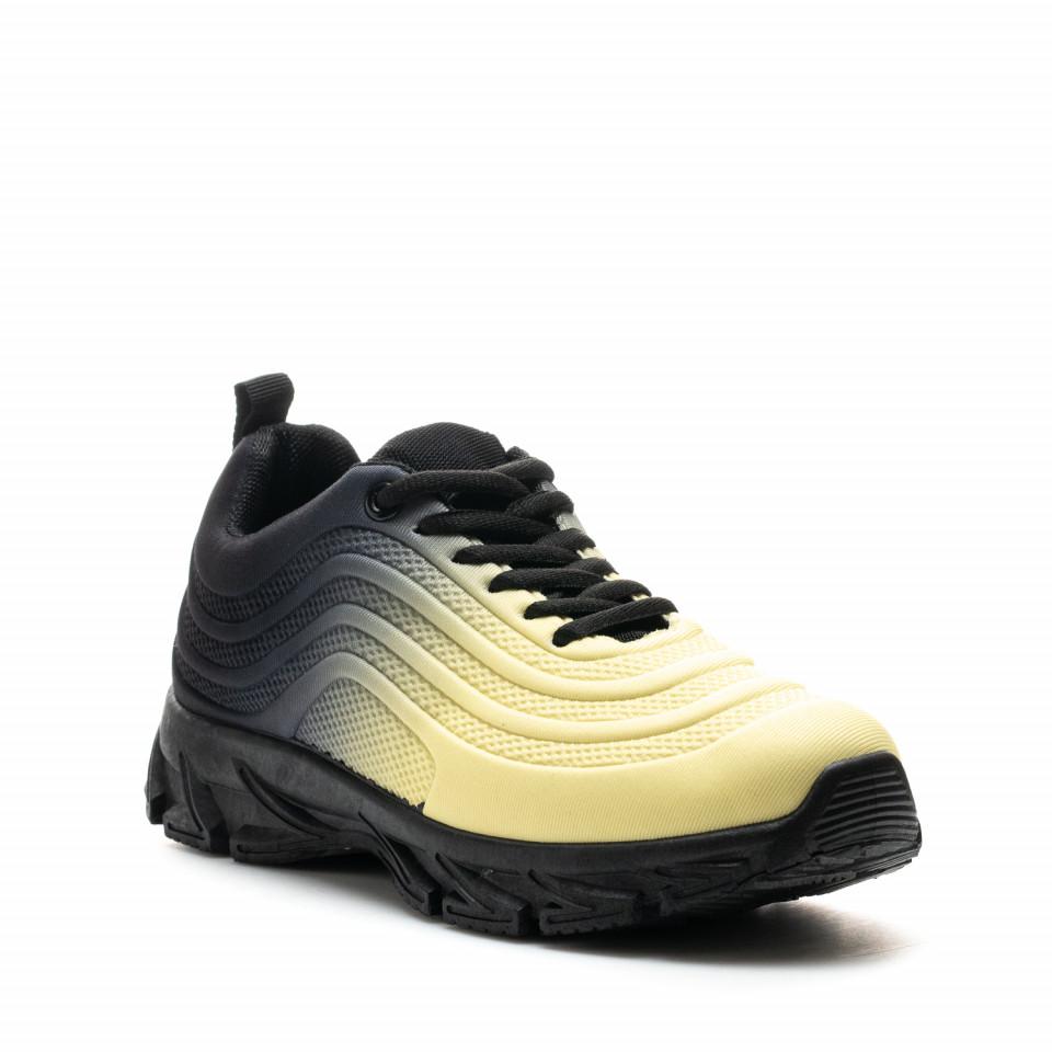 Pantofi Sport Cod: J1836 YELLOW/BLACK (G02)