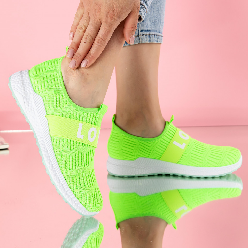 "Pantofi sport ""MireaFashion"" Cod: 208 GREEN (H05)"