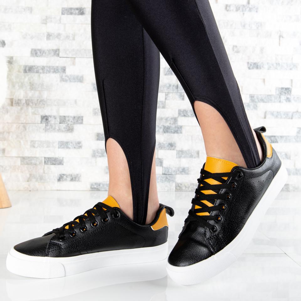 """Pantofi Sport """"MireaFashion"""" Cod: H2205 BLACK/YELLOW (L14)"""