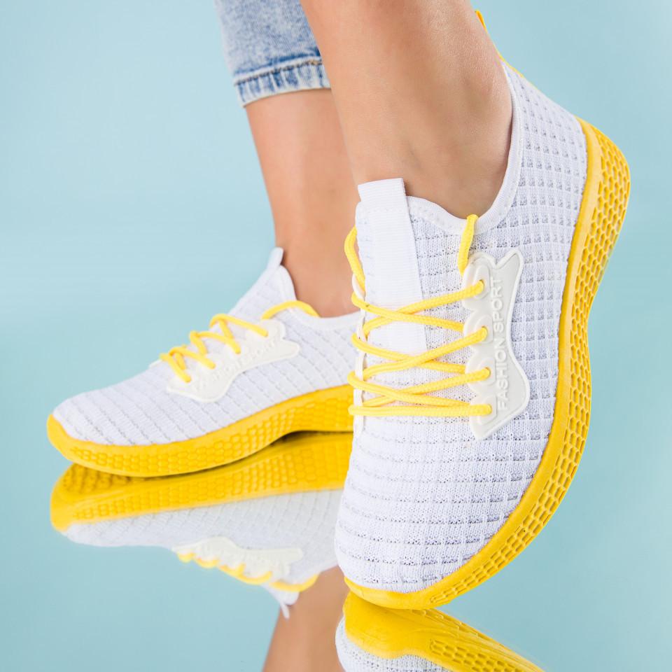 "Pantofi sport ""MireaFashion"" Cod: HQ-34-161 WHITE (E08)"