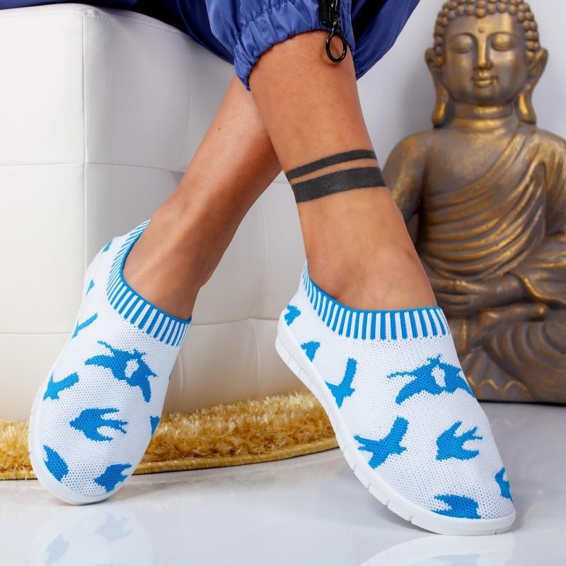 "Pantofi Sport ""MireaFashion"" Cod: W-98 L. BLUE (J11)"