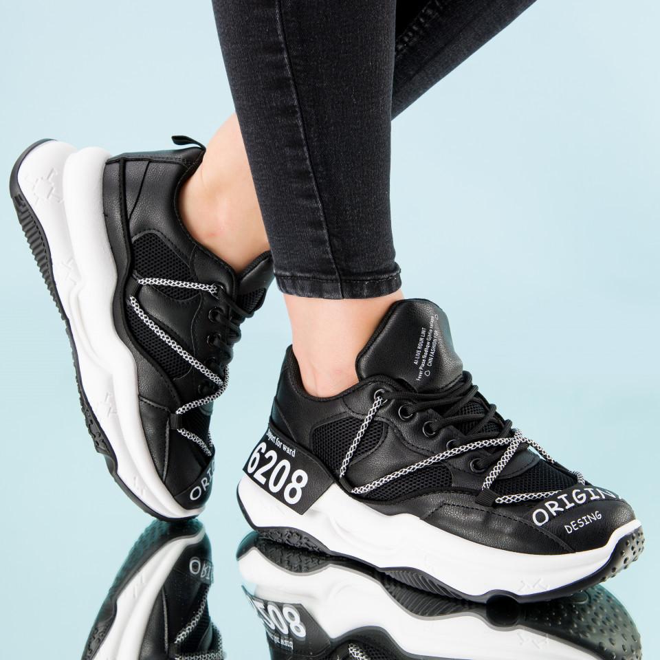 "Pantofi sport ""MireaFashion"" Cod: W6607 BLACK (I 02)(L01)"