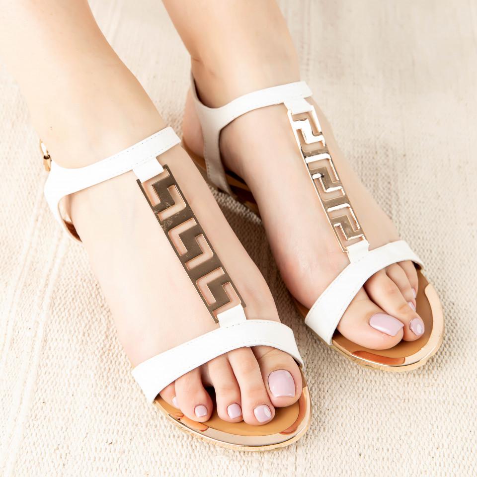 """Sandale """"MireaFashion"""" Cod: OL-LM50 WHITE (O 04)"""