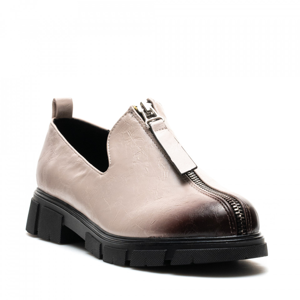 Pantofi Cod: W77-57D BEIGE (C 07)