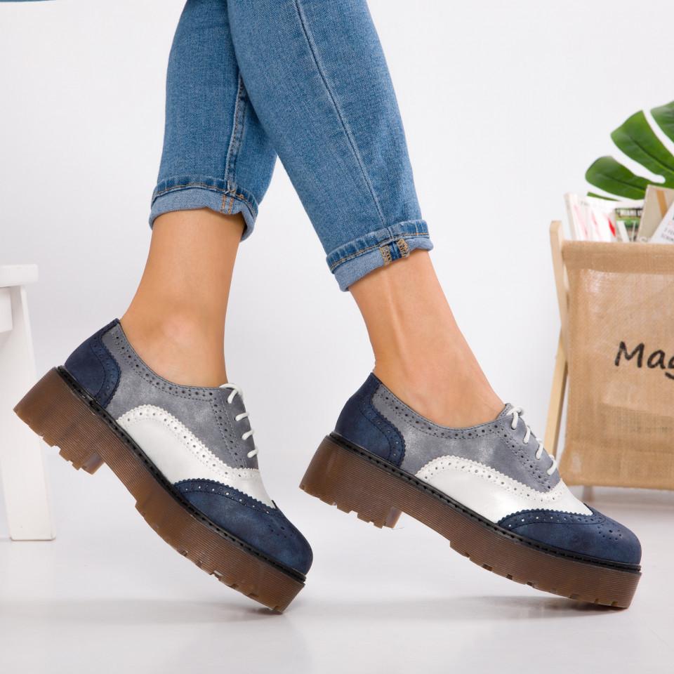 """Pantofi """"MireaFashion"""" Cod: GQ20 BLUE (C 011)"""