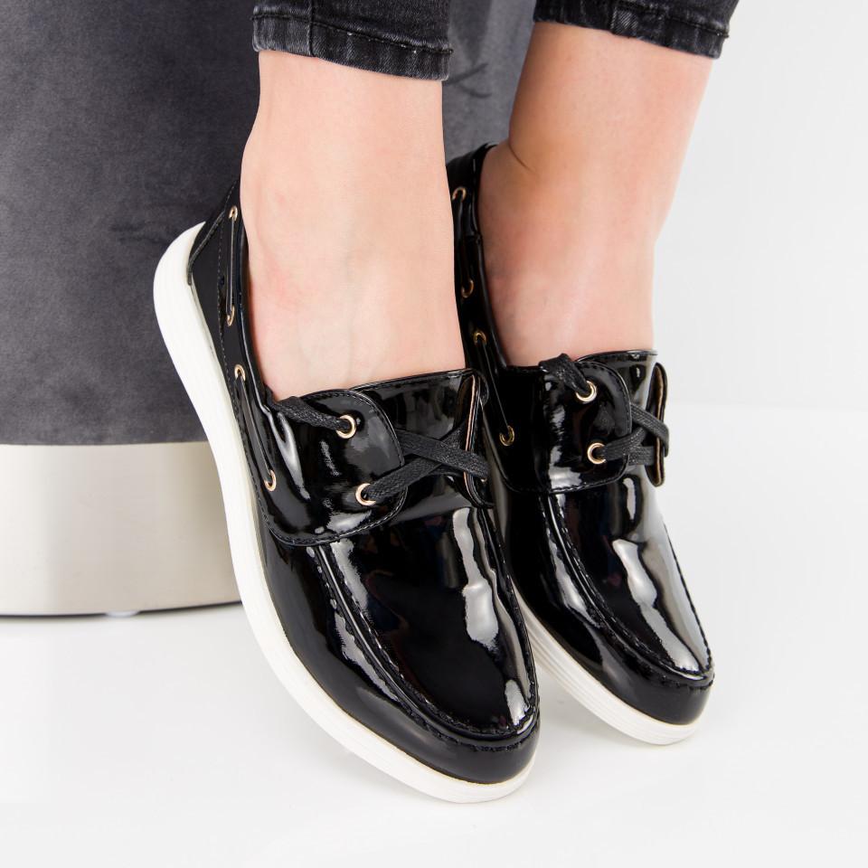 "Pantofi ""MireaFashion"" Cod: J1418 BLACK (L01)"