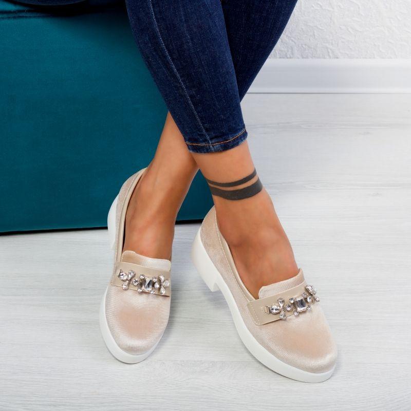 "Pantofi ""MireaFashion"" Cod: JY12 Beige (A03)"