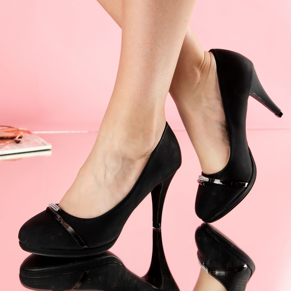 "Pantofi ""MireaFashion"" Cod: W88-3 BLACK (G06)"