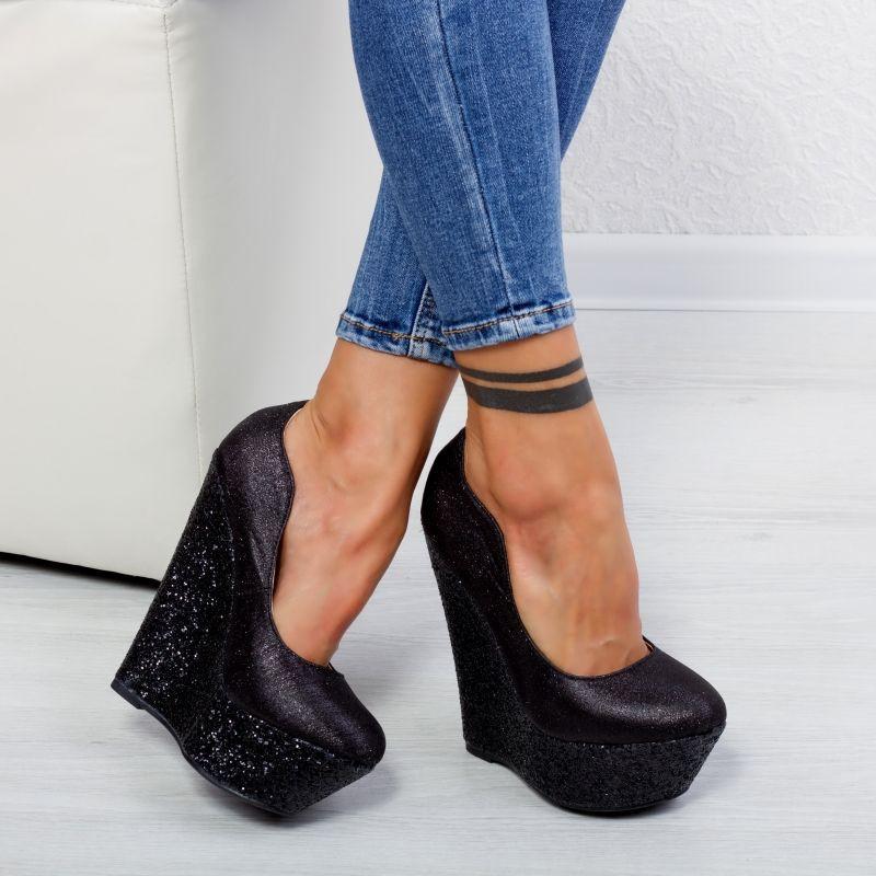 "Pantofi ""MireaFashion"" Cod: XKK6901 BLACK (N02)"