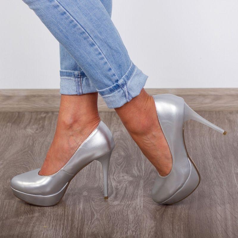 "Pantofi ""MireaFashion"" Cod: ZY0934 Silver (Q01)"