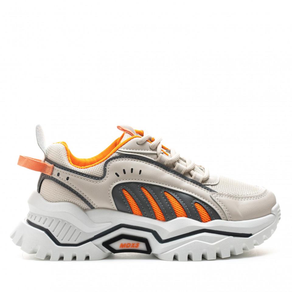 Pantofi Sport Cod: 61-4 ORANGE (H01)
