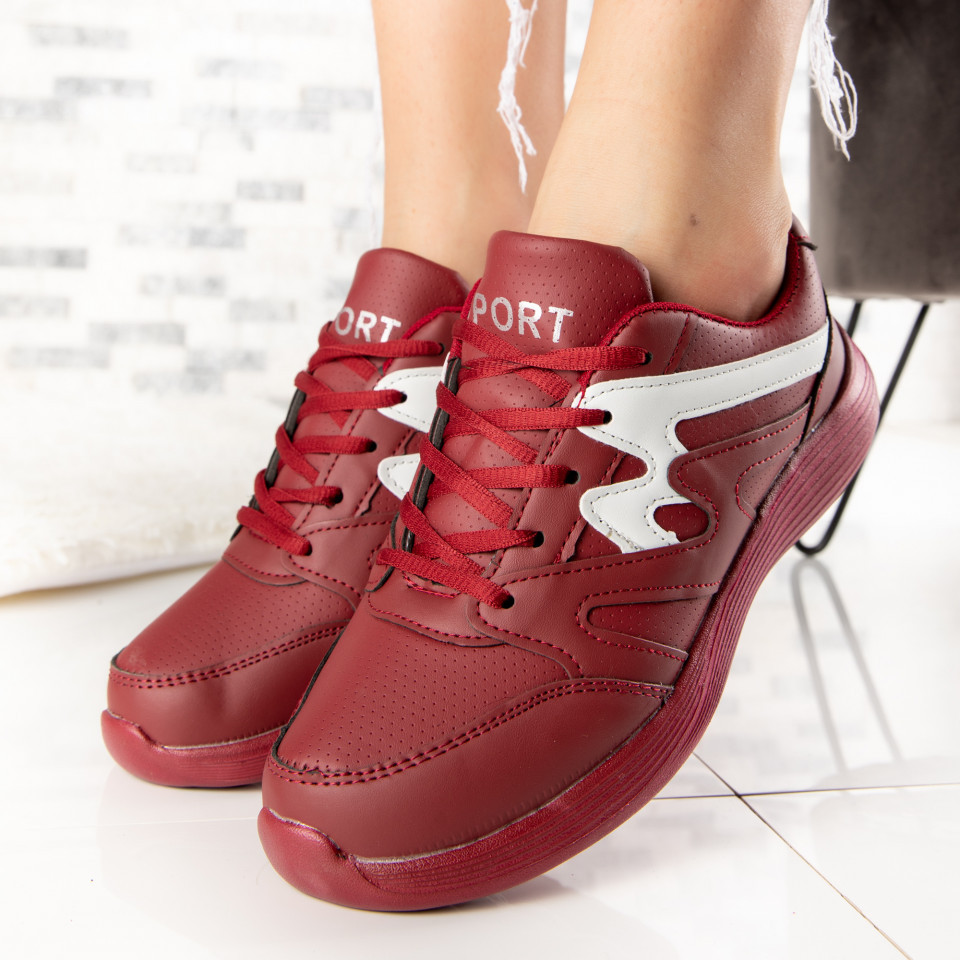 "Pantofi Sport ""MireaFashion"" Cod: 86 BURGUNDY (J06)"