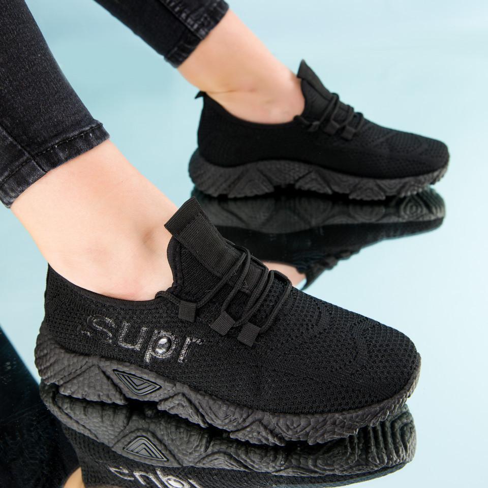 "Pantofi sport ""MireaFashion"" Cod: HQ-201-222 ALL BLACK (Q02)"