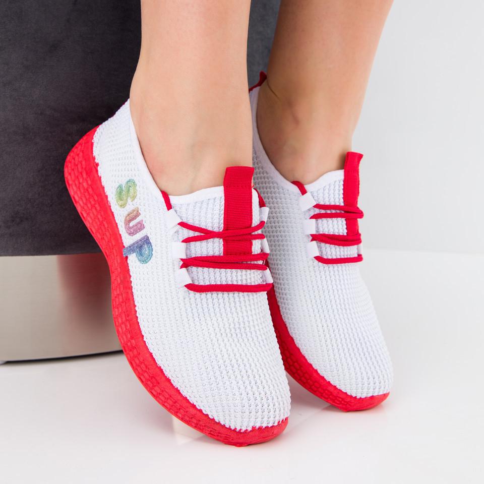 "Pantofi sport ""MireaFashion"" Cod: HQ-36-177 WHITE (I 07)(N05)"