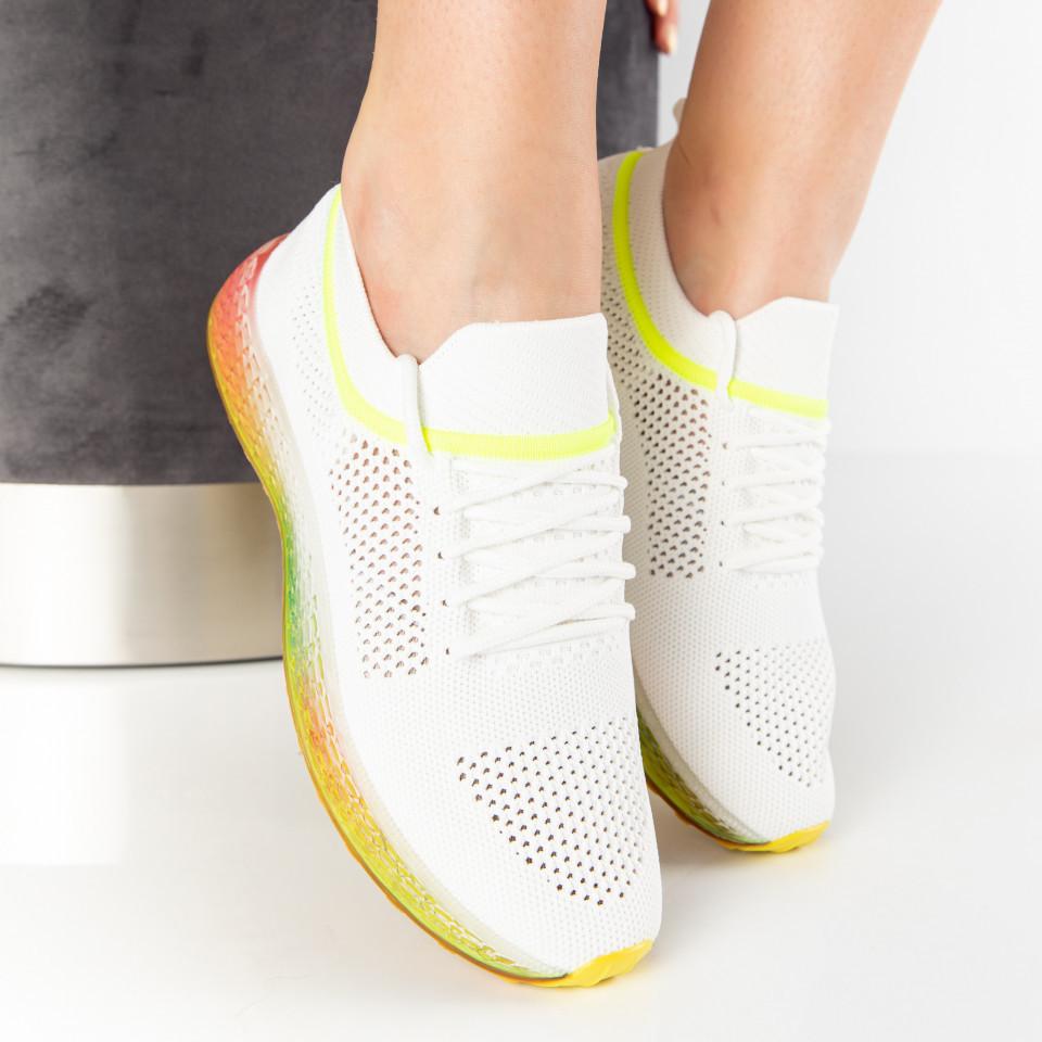 """Pantofi Sport """"MireaFashion"""" Cod: J76-5 WHITE/GREEN (A 010)"""
