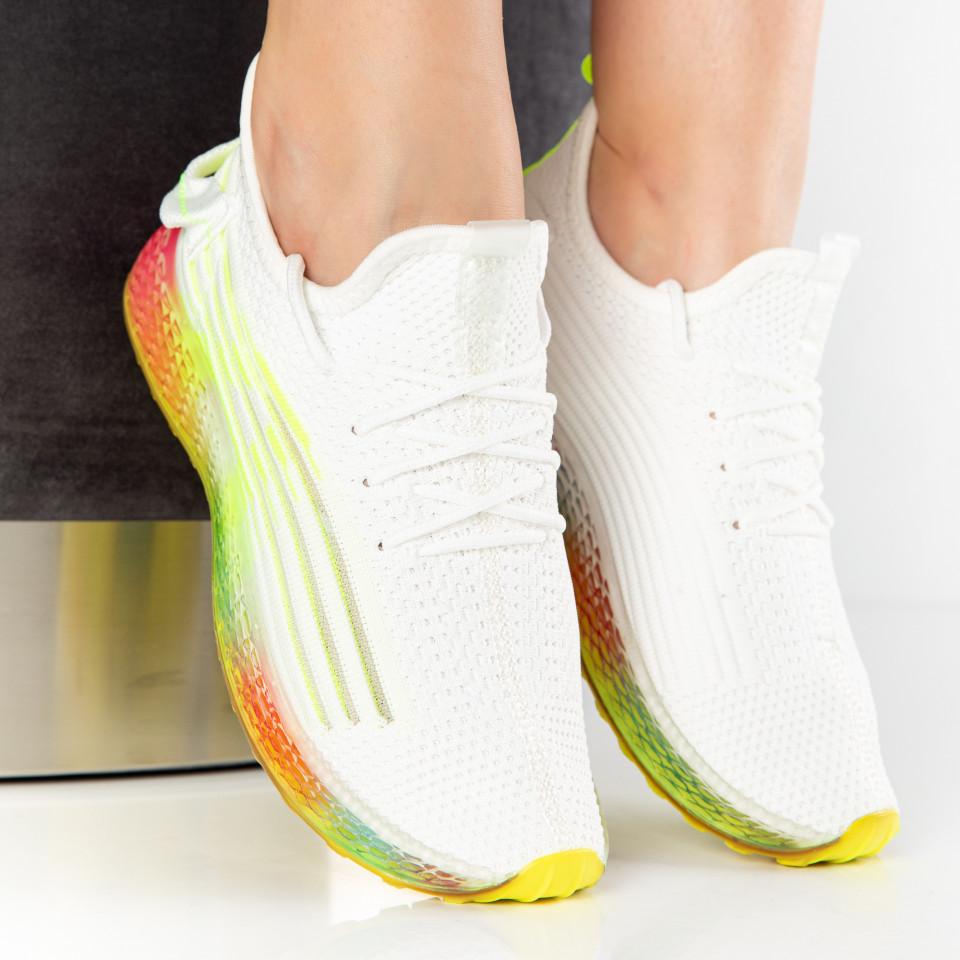 """Pantofi Sport """"MireaFashion"""" Cod: J78-3 WHITE/GREEN (H05-G06)"""