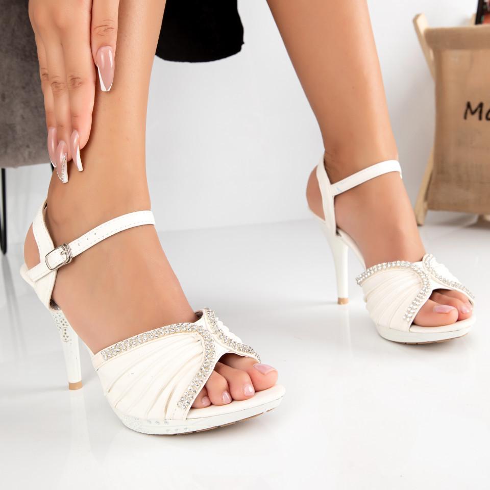"Sandale ""MireaFashion"" Cod: 2014-18 WHITE (B010)"