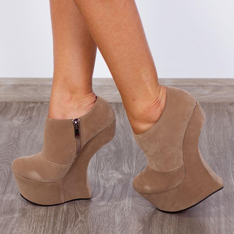 "Pantofi ""MEI Fashion"" Cod: RZ-36 Beige (K04)"