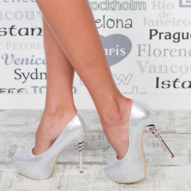 "Pantofi ""MireaFashion"" Cod: HY1203 SILVER (C 06)"