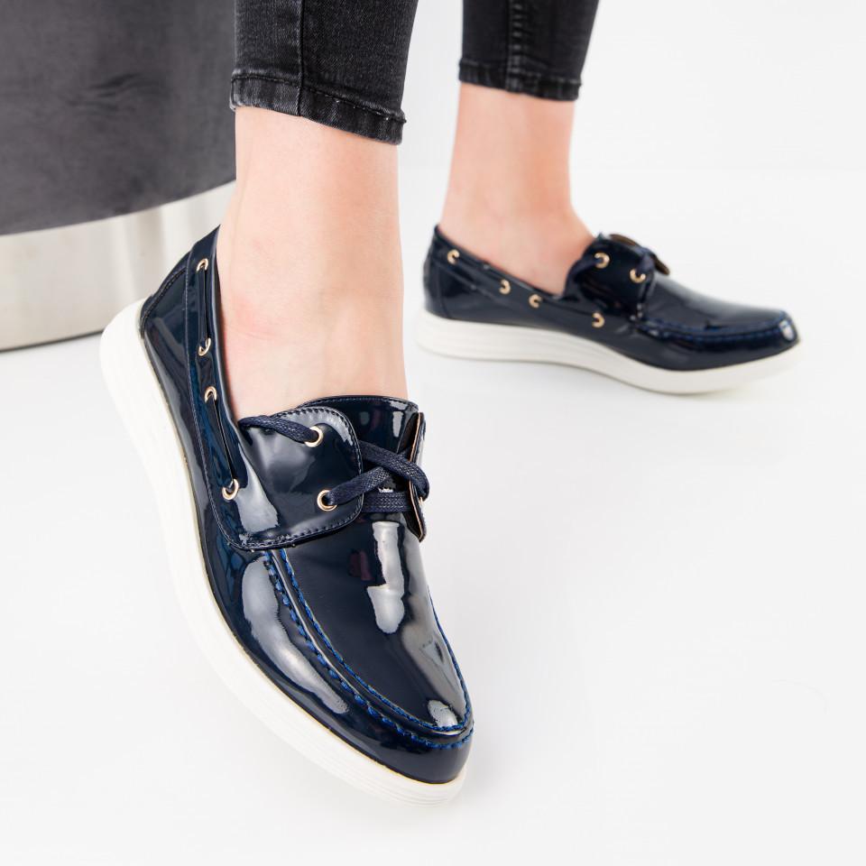 "Pantofi ""MireaFashion"" Cod: J1418 NAVY (A02)( A 014)"