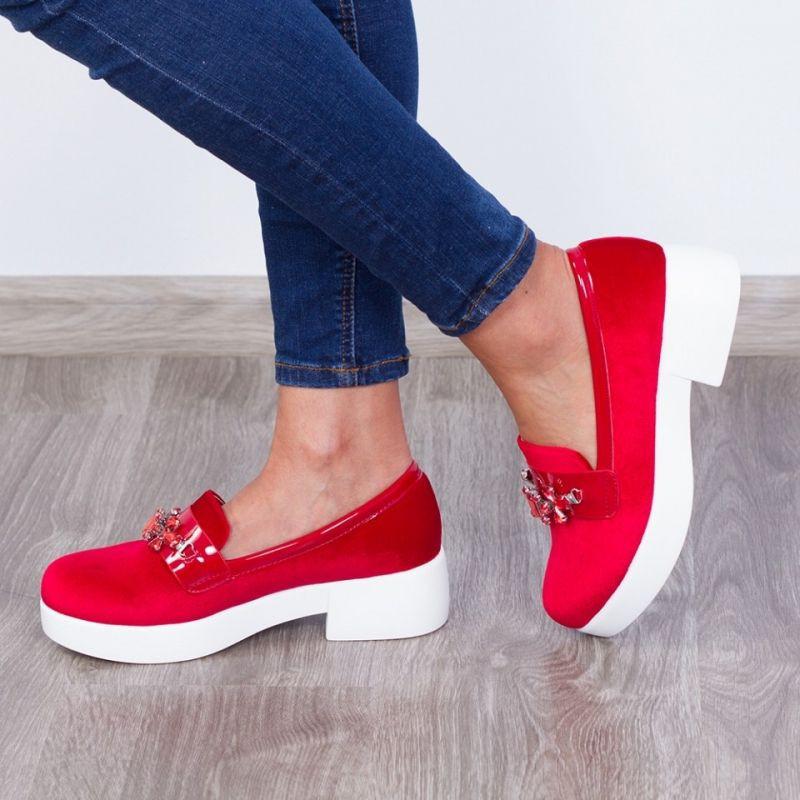 "Pantofi ""MireaFashion"" Cod: JY12 Red (Y03)"