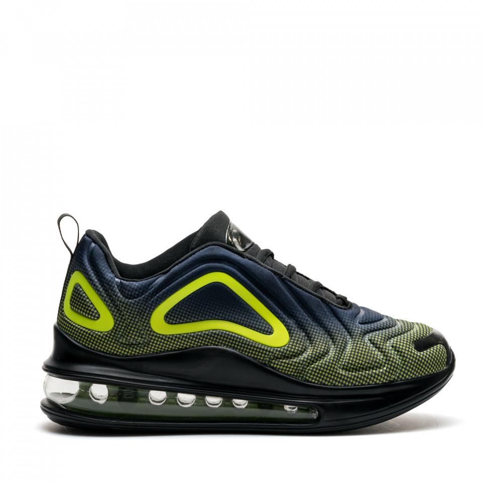 Pantofi Sport Cod: 366-10 BLACK/GREEN (H04)