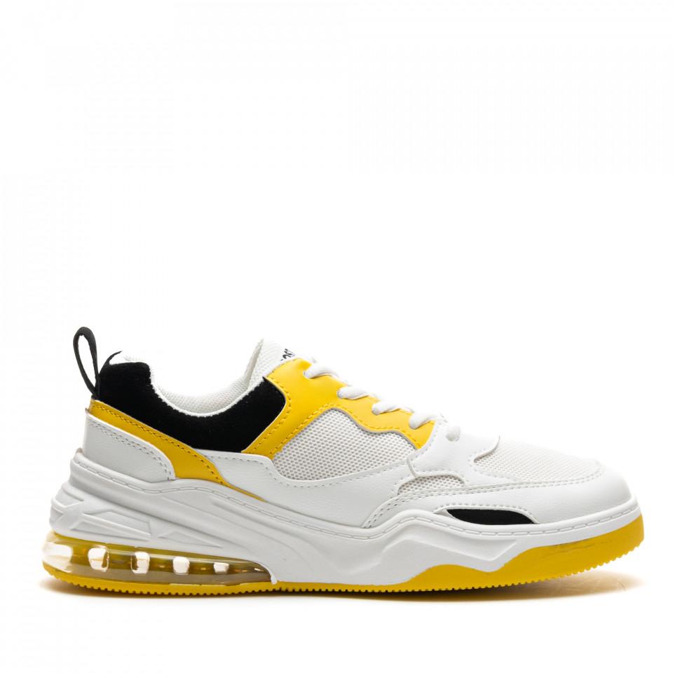Pantofi Sport Cod: AB01 WHITE/YELLOW (D01)