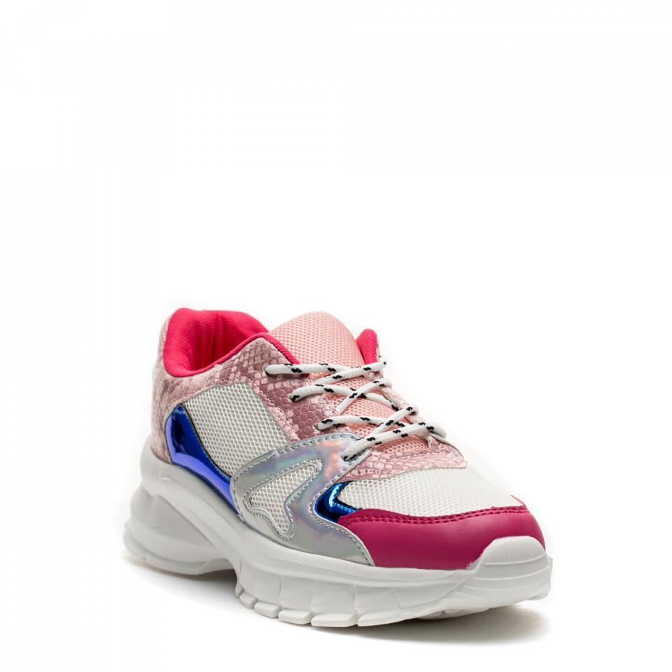 Pantofi Sport Cod: HQ-M10 WHITE/PLUM RED (J02)