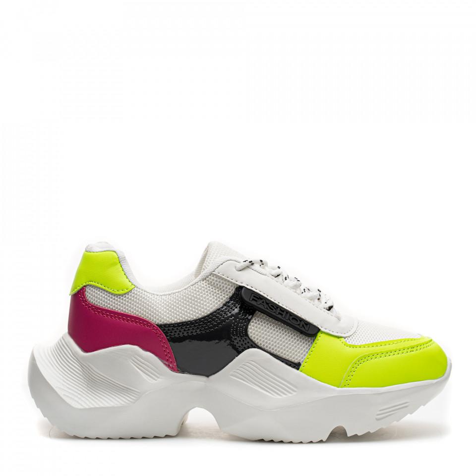 Pantofi Sport Cod: HQ-M3 WHITE/GREEN (E03)