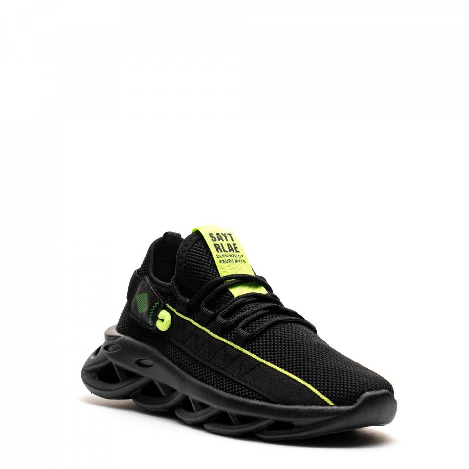 Pantofi Sport Cod: LM050 BLACK/GREEN (E010)