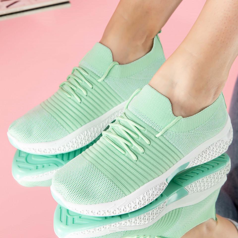 "Pantofi sport ""MireaFashion"" Cod: 0105-6 GREEN (R05)"