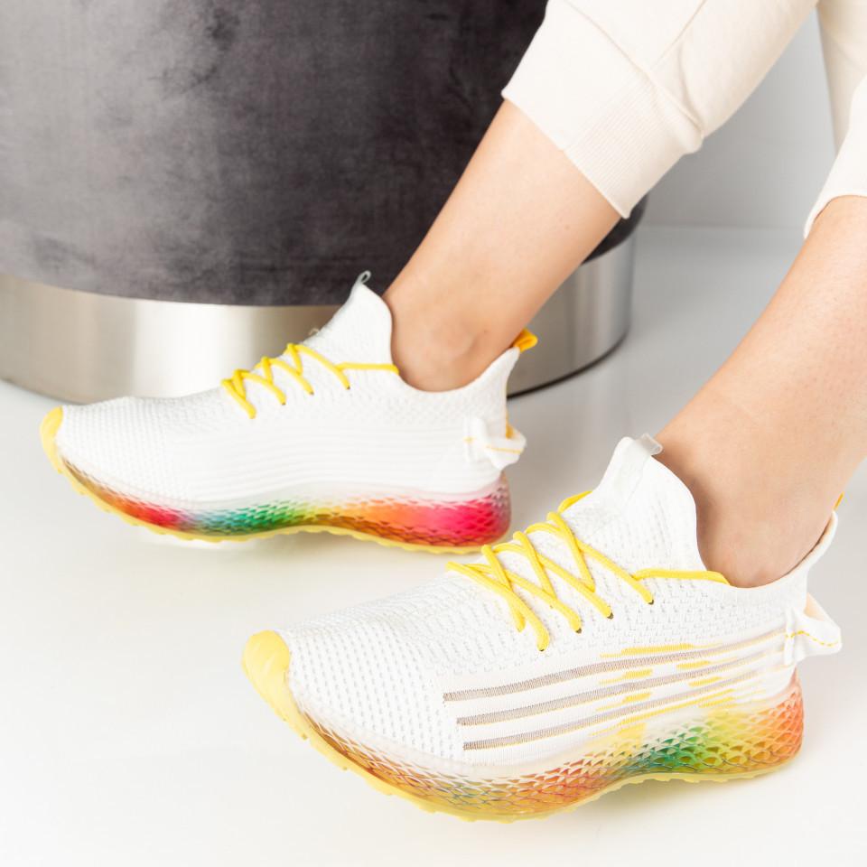 """Pantofi Sport """"MireaFashion"""" Cod: J78-5 WHITE/YELLOW (A 07)"""