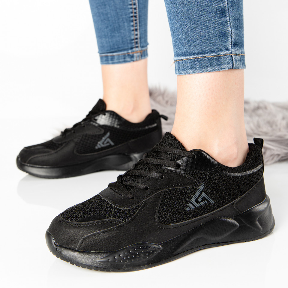 "Pantofi Sport ""MireaFashion"" Cod: W-17 BLACK (T02)"