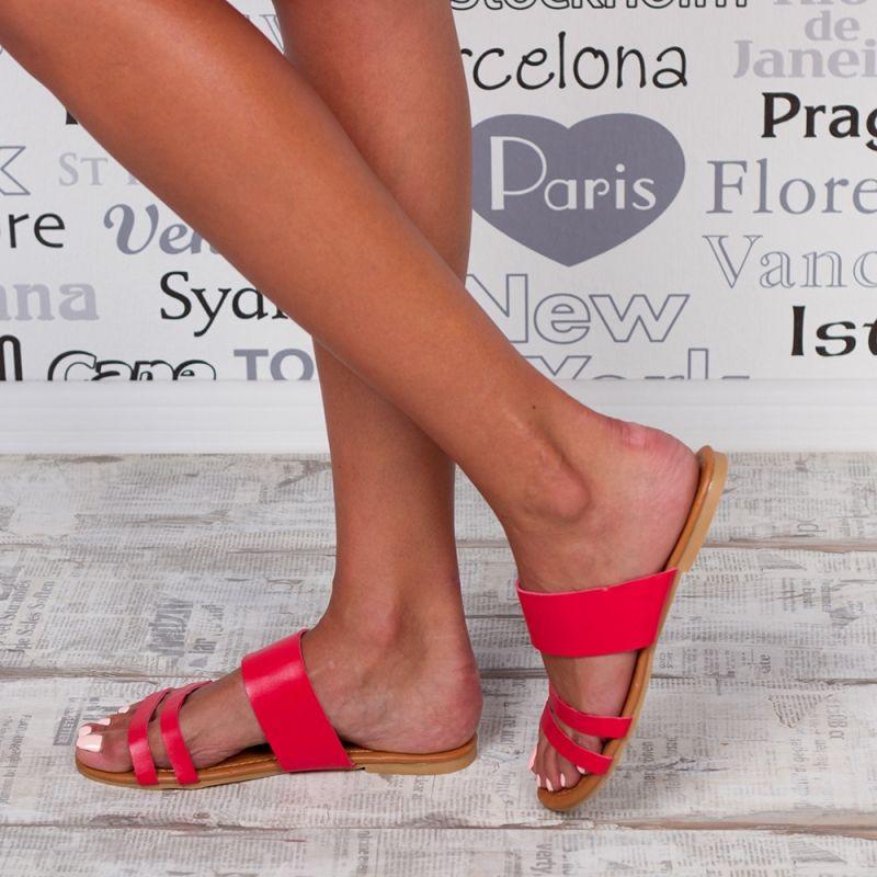 "Papuci ""MireaFashion"" Cod: F02 RED(B05)"