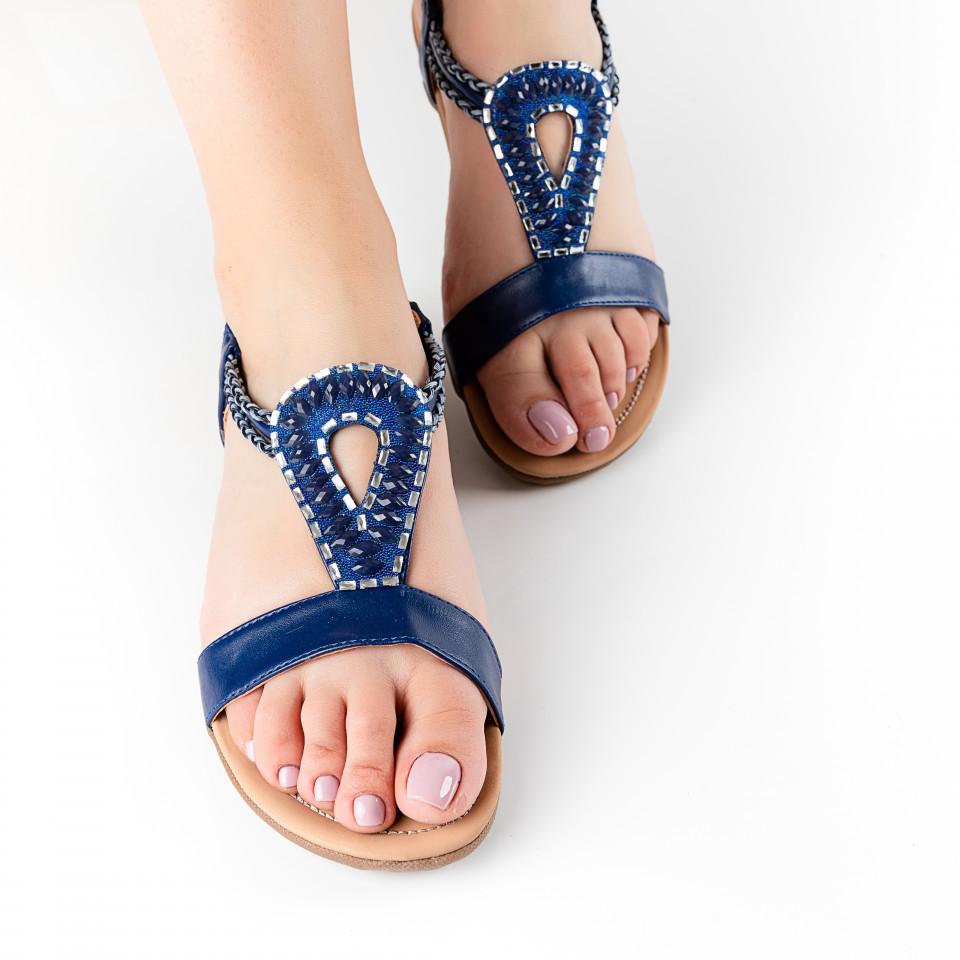 """Sandale """"MireaFashion"""" Cod: F16-2 BLUE (O 03)"""