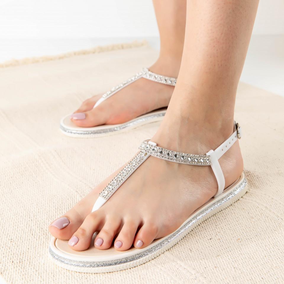 "Sandale ""MireaFashion"" Cod: WS125 WHITE (B 014)"