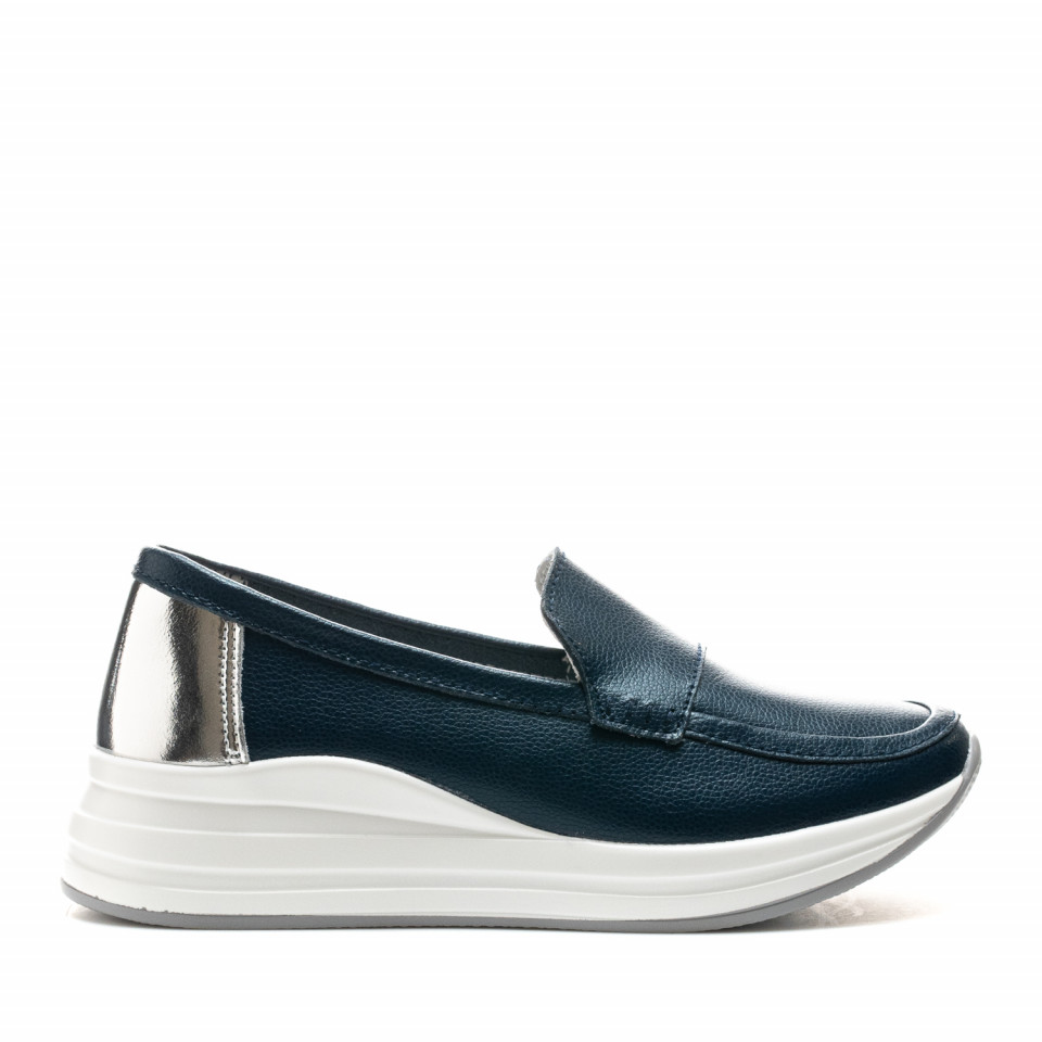Pantofi Cod: AW155 NAVY/LEATHER (E011)