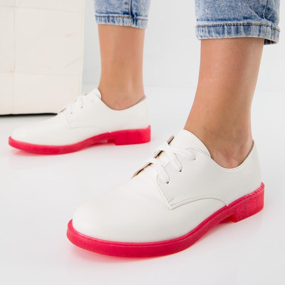 "Pantofi ""MireaFashion"" Cod: 6335-1C WHITE (B011)( C 011-13)"