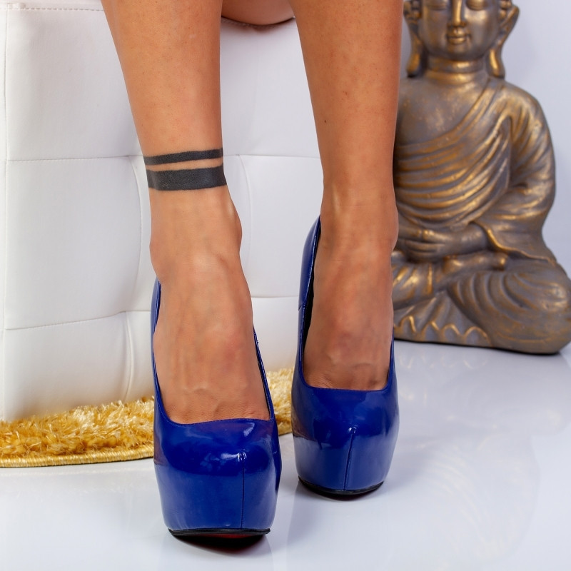 "Pantofi ""MireaFashion"" Cod: JN-5140-1FA BLUE (K 05)"