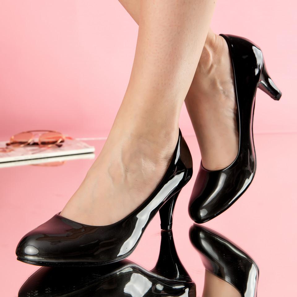 "Pantofi ""MireaFashion"" Cod: W88-22 BLACK (B014)"