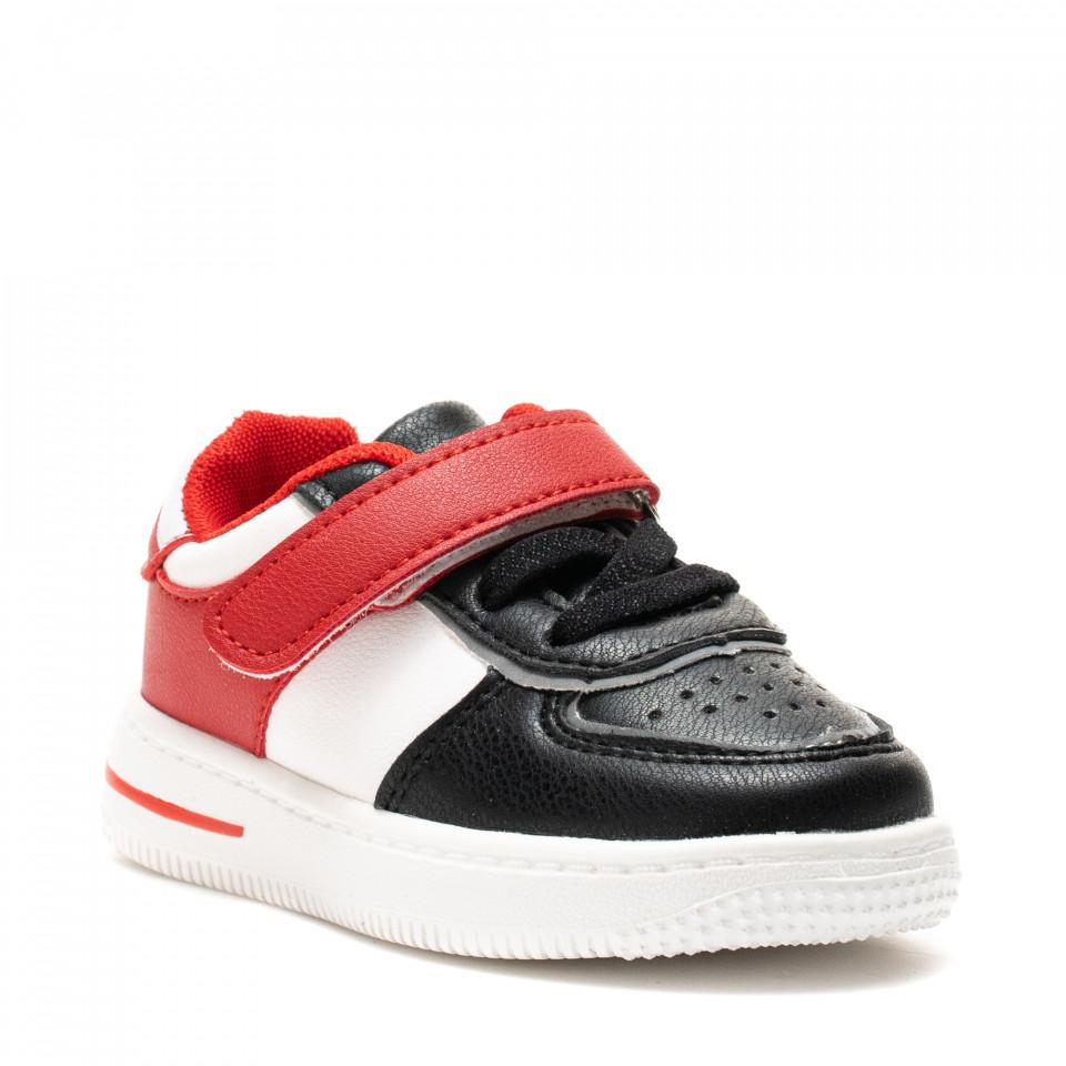 Pantofi Sport Cod: KJ07 WHITE/BLACK (E 01)