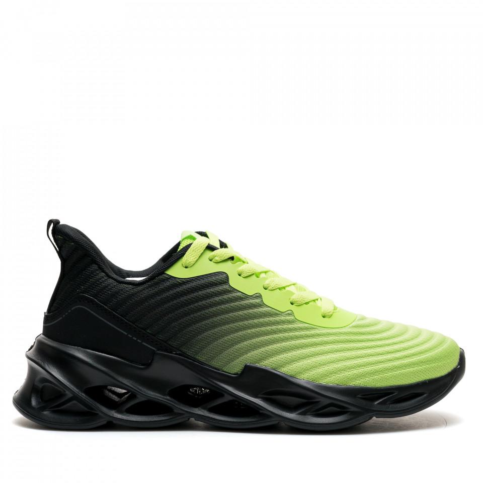 Pantofi Sport Cod: U0567-7 GREEN BLACK (I 04)
