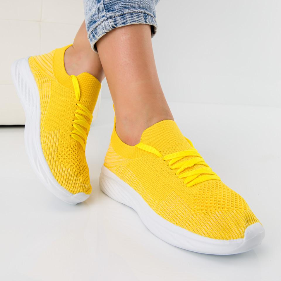 """Pantofi sport """"MireaFashion"""" Cod: 127 YELLOW (A08)"""